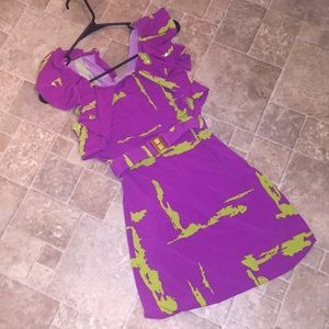 Rampage Pink and Green Dress